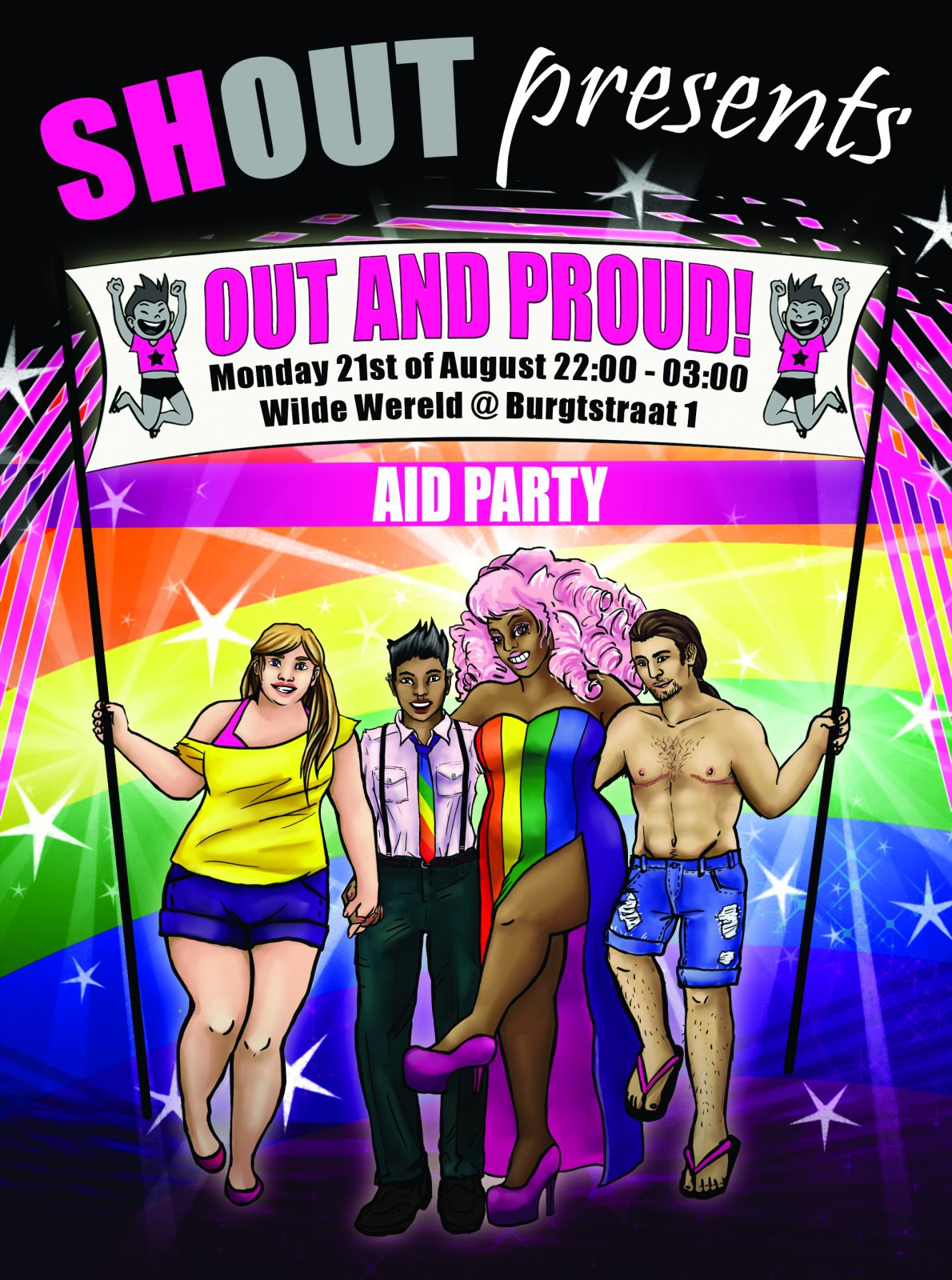 Out and Proud AID party