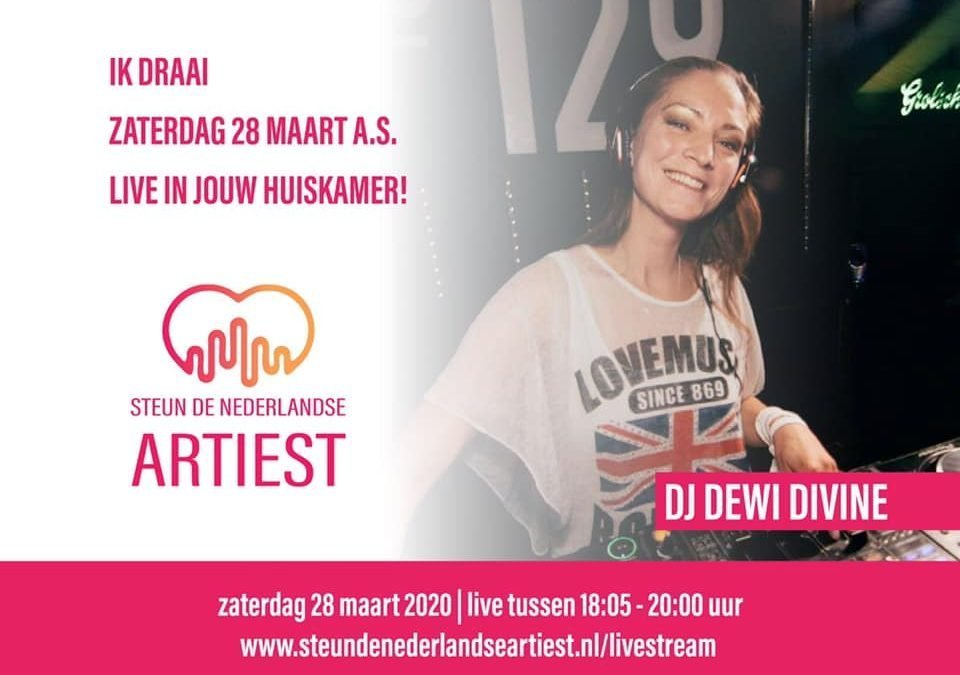 DJ Dewi Divine will play via a live-stream tonight